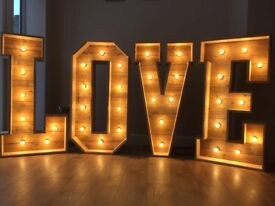 4ft Rustic Wooden LOVE letters