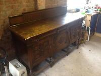 Oak dresser side cabinet