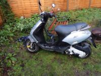 PIAGGIO ZIP, DE/RESTRICTED, GOOD CONDITION, LOW MILEAGE, 4 STROKE MOPED SCOOTER