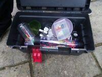 Large bundle of fishing gear