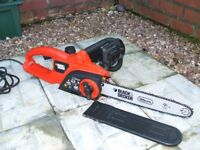 As New Black and Decker Electric Chainsaw.