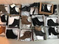 60 pairs Joblot of ladies shoes wholesale footwear boots job lot all sizes mixed brand new