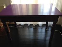 Wooden occasional table or small dining table