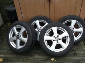 Set of 16inch alloys with tyres for sale