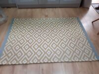 Orchre and Grey Geometric Rug