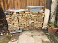 Old yellow stock bricks .