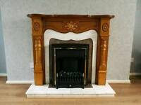 Light oak fireplace, great condition
