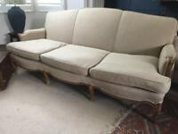 French Antique 3 seat Sofa Louis Settee plus optional matching armchairs DELIVERY available