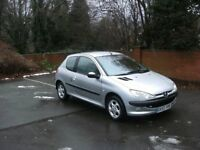 peugeot 206 1.4 petrol , recent clutch runs and drives nice , cheep car cheep insurance and tax
