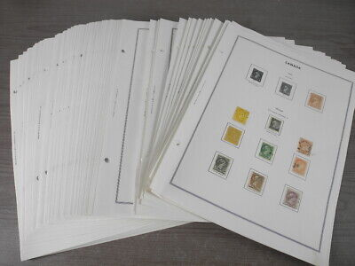 CANADA, Amazing Stamp Collection hinged on Harris pages
