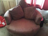 Cuddle chair - light brown