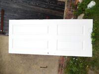 solid wood internal door painted white