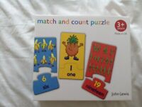 John Lewis & Partners Fruit and Veg Match and Count Puzzle / Game - Brand new