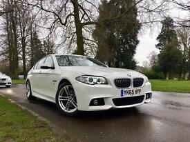 BMW 520d M Sport Auto, 2015, White, Facelift, Sat-Nav, huge spec, swap p/x.