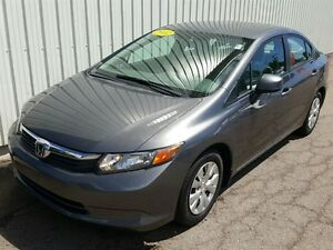 2012 Honda Civic LX LOW KMS/PW/PL/AIR/BLUETOOTH