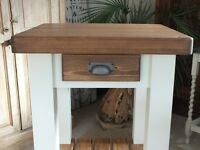 """Shabby Chic Country Pine Rustic Butchers Block Style Kitchen Island 3"""" Thick Top"""