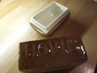 Carlton Ware 'Hovis Loaf' Butter Dish & Toast Rack
