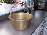 Antique Solid brass jam pan