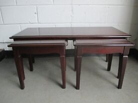 STAG FURNITURE SOLID MAHOGANY COFFEE TABLE SET NEST OF TABLES FREE DELIVERY
