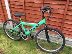 "Bike green 24"" wheels good condition"