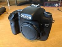 Canon 7D Body + Box & Contents + Two memory cards