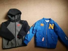 Boys bomber jacket and Nike jumper