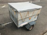 Erde trailer with extensions sides and cover