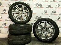 "GENUINE AUDI 17"" A4/A5 ALLOY WHEELS & TYRES (Fits VW) - 225/50/17 - 5 x 112 - 210"