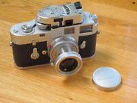 Leica M2 body, Elmer 50mm f2.8 collapsible lens & Leica-meter M