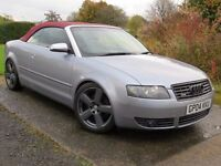 !!RED LEATHER!! 2004 AUDI A4 3.0 QUATTRO SPORT / CONVERTIBLE / FULL SERVICE HISTORY / EXCELLENT SPEC