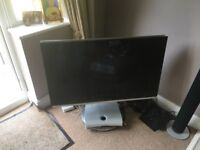 Bang and Olufsen tv plus remote beovision and motorised stand