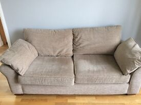Sofa and armchair - Good condition originally from Next - COLLECTION ONLY