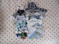 Newborn & 0-3 mths baby boy clothes bundle. 30+ items. Jasper Conran, Disney, M/care, etc. £8 ovno.