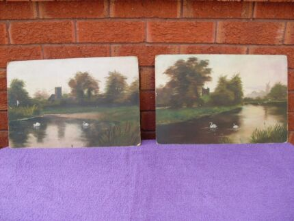 PAIR ORIGINAL OILS (PRE 1937) RATHBONE PLACE, LONDON $20.00 EACH Mudgee Mudgee Area Preview