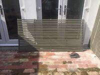 Garden fence trellis panel