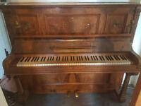 Antique upright Adalbert Berlin overstrung piano
