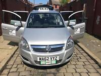 Vauxhall zafira rossendale taxi plate