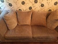 3 and 2 seater beige sofas