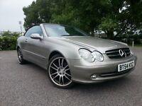 2004 MERCEDES CLK 240 2.6 SOFT TOP CONVERTIBLE AUTOMATIC - NEW MOT - VERY LOW MILES - WARRANTY