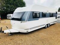 Hobby caravan 650 kfu Prestige (2014/15 Model) fixed bunk beds. Like tabbert/fendt