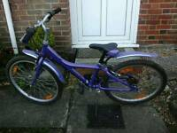 Purple girls bike age 8 plus