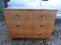 A Vintage Retro chest of drawers with 3 Drawers-Furniture