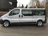 2003 vauxhall Vivaro 1.9 dci minibus 9 seater day van 12 month Mot silver LWB version renault trafic