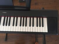 Yamaha Piaggero Keyboard, stand and main adaptor. Excellent condition
