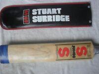STUART SURRIDGE ORIGINAL JUMBO CRICKET BAT WITH SUPER COVER, UNIQUE TOE REINFORCEMENT WITH COVER
