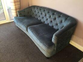 Velvet Chesterfield Sofa Setee