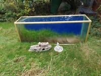 Large 6ft metal framed fish tank 120.00 or swap for smaller one also comes with the light unit
