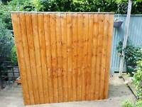 3x Pre-treated Feather Edged Fence Panels