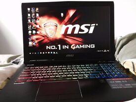 MSI Laptop GTX 970m i7 5700HQ!16GB Ram, SSD+HDD, Dual Fan, LED Keyboard