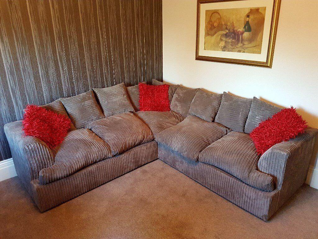 Jumbo Cord Corner Sofa In Preston Lancashire Gumtree